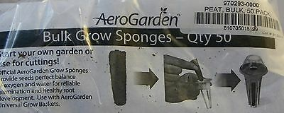 aerogarden 50 pack bulk grow sponges fit Hydroponic basket and seed starter tray