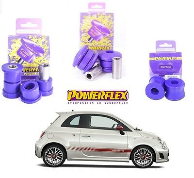 Kit Boccole Silent Block Powerflex Avantreno Bracci e Barra Abarth 500 1.4 Turbo