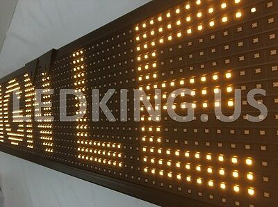 """SIGN YELLOW 40""""x8"""" LED Sign Programmable Scrolling Message Display Board"""