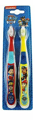 Kids Official Paw Patrol Nickelodeon Twin Pack Toothbrushes Manual Toothbrush