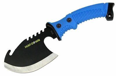 "10.5"" Blue Survival Tactical BATTLE Tomahawk THROWING AXE Hatchet knife hunting"