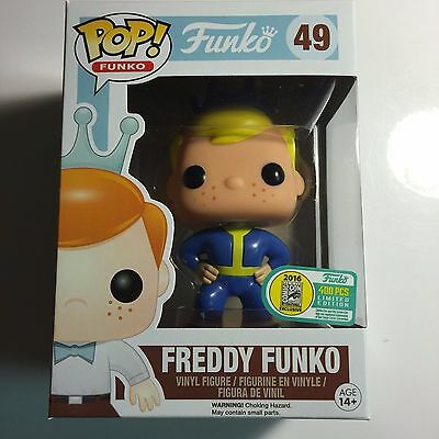Funko SDCC 2016 Fundays Exclusive FALLOUT VAULT BOY FREDDY # 49  LE 400