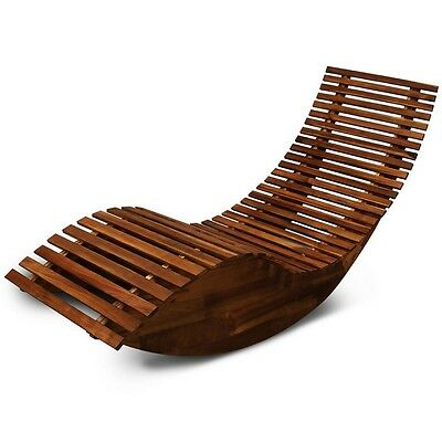 Fabulous Wooden Sun Lounger Outdoor Garden Swing Relaxer Bed Creativecarmelina Interior Chair Design Creativecarmelinacom