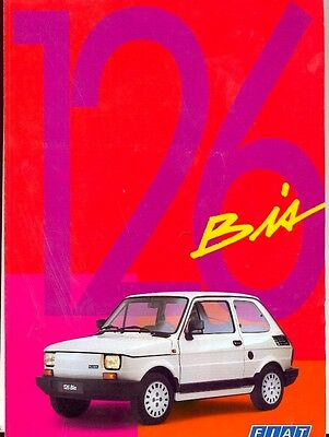 Fiat 126 Bis French market full colour sales brochure 1991
