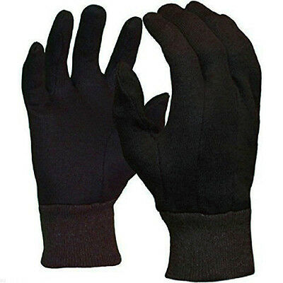 Free Shipping 300 PAIRS Dark Brown Poly/Cotton Jersey Working Glove - Large