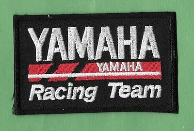 NEW Yamaha Motorcycle 'Racing Team'  2 X 3 1/2  Inch IRON ON PATCH FREE SHIPPING