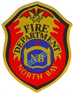 Vintage North Bay Fire Department Uniform Patch Ontario ON Canada #1