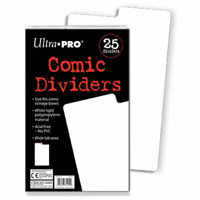 Ultra Pro Comic Series Comic Storage Archival Safe Dividers x 25