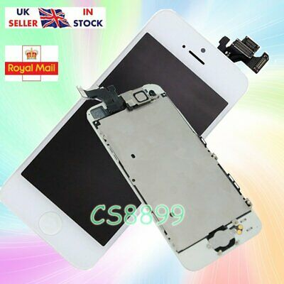White For iPhone5  LCD Touch Screen Digitizer Replacement +Home Button Camera Uk