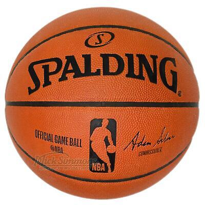 NEW Spalding Official NBA Leather Game Ball Indoor Basketball