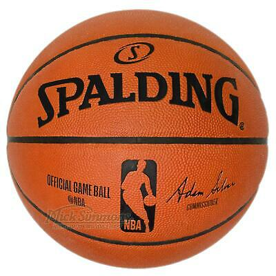 Spalding Official NBA Leather Game Ball Indoor Basketball