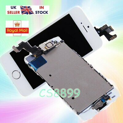For iPhone5S  LCD Touch Screen Digitizer Replacement +Home Button Camera White