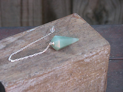 Green Aventurine Crystal Pendulum ~ Polished