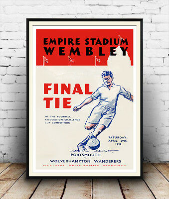Final tie 1939 : Vintage Cup final programme  ,Reproduction poster, Wall art.