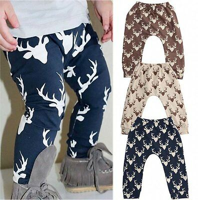 Kids Newborn Baby Boys Girls Cotton Elastic Harem Pants Toddler Trousers Clothes