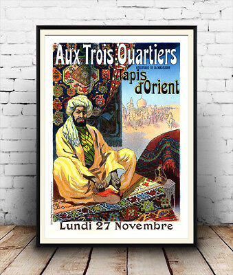 Aux Trois Ouarters : Vintage Travel poster  ,Reproduction poster, Wall art.