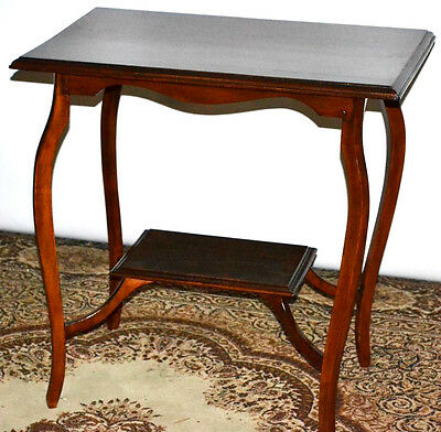 Antique Inlaid Kidney Shaped Occasional Table with Under Tier -FREE P&P [PL2333]