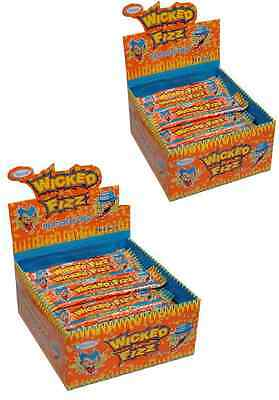 Bulk Lollies 120 x Orange Flavoured Wicked Fizz Chews Party Favour Sweets Candy