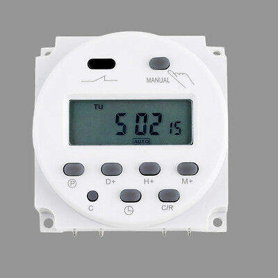 New LCD Digital Power Programmable Timer AC 12V 16A 4.4VA Time Relay Switch WL