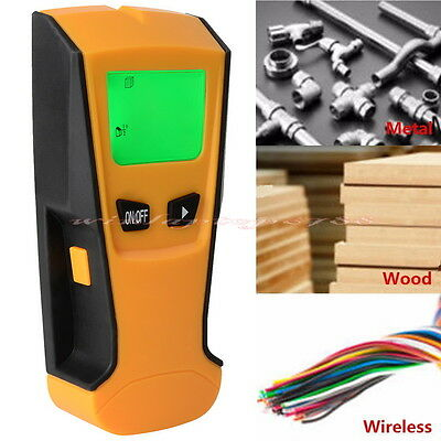 3 in 1 LCD Scanner Wood Stud Metal AC Wire Voltage Finder Wall Detector +Battery