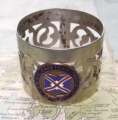 Rare Original Old RMMV Capetown Castle Union Castle Line Napkin Ring
