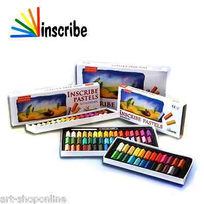 Inscribe Artists Soft Pastels Assorted Colours Set 24 32 48 64