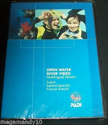 Open Water Diver Video~ PADI ~Scuba Diving ~MULTILINGUAL VERSION~DVD NEW