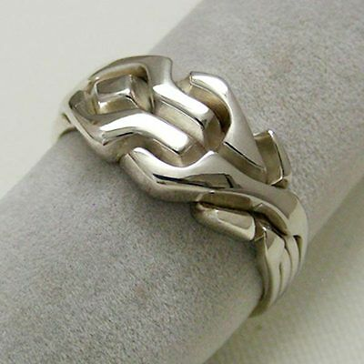 (MAZE) Unique Puzzle Rings - Sterling Silver - Any Size