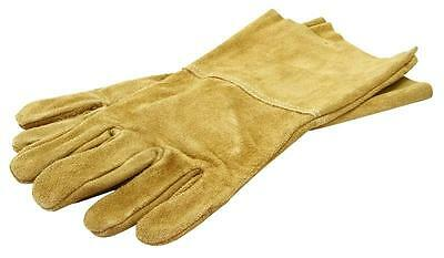 Leather Gauntlets Long Gloves Pruning Garden Brambles Roses Thorn Proof Ia21