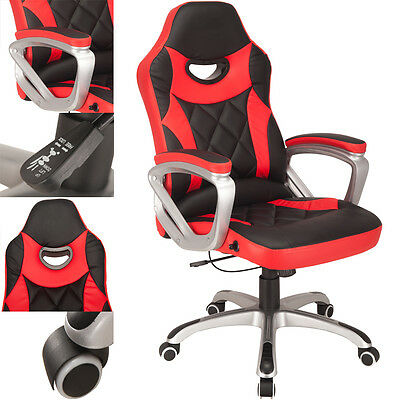 RayGar Premium Black/Red Racing Seat Gaming Chair Computer Desk Office Chair