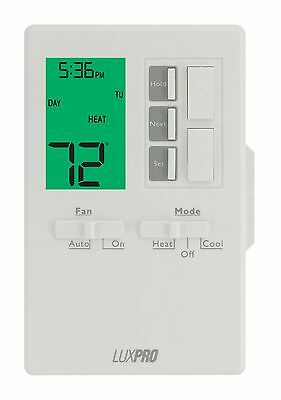 LuxPro 1 Heat 1 Cool Vertical Programmable Thermostat - P711V