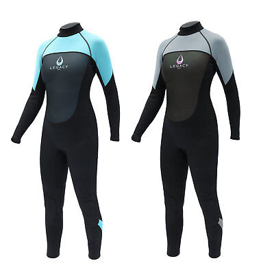 Legacy 3/2mm Womens Full Wetsuit Surf Ladies Steamer Swim Long Wet Suit XS-L
