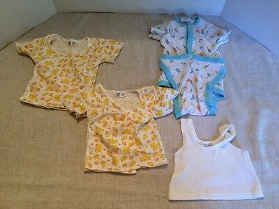 Lot 4 Vintage Infants Baby Under Shirts Rompers Sears Little Majesty