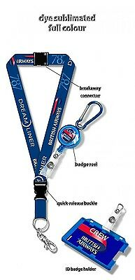 British Airways B787 Dye Sublimation Lanyard Set