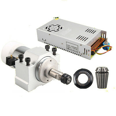 CNC 300W Air Cooling Spindle Motor DC 12V +Power Governor+Mount Bracket Machine