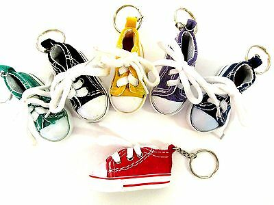 6 SHOE KEYCHAINS tennis shoe high tops key chains exercise walking shoes CUTE