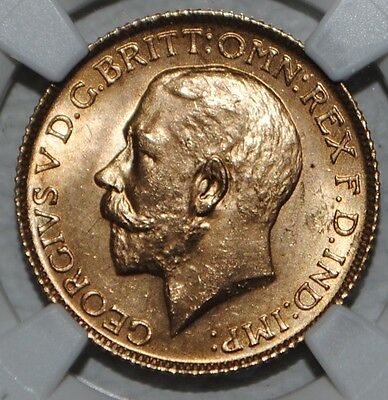 1925 Great Britain Gold Sovereign King George NGC MS64 Uncirculated BU Coin UK