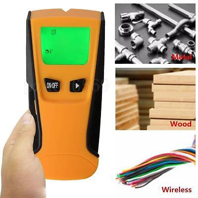 3-in1 Multi Detector LCD Scanner AC Live Wire Finder Wood Wall Metal Detector