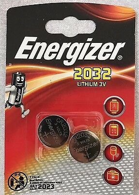 Energizer CR2032 Battery Lithium 3V Pack of 2 - Expiry 2023