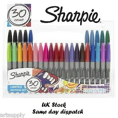 30 Pack Sharpie Fine Point Assorted Limited Edition Permanent Marker Pens NOT 28