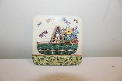 Longaberger Coasters - Set of 4 - Basket with Dragonflies - New