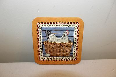 Longaberger Coasters - Set of 4 - Basket with Rooster - New