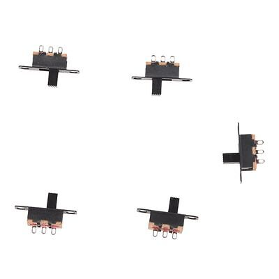 5 Pcs 50V 0.5A 3 Pin 2 Position On/OFF 1P2T SPDT Slide Switch 3 Pin ZH