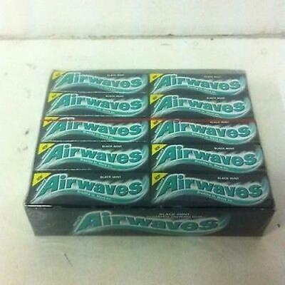WRIGLEYS AIRWAVES BLACK Mint MENTHOL - Full Box Of 30