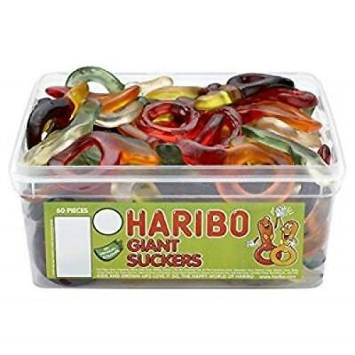 HARIBO SWEETS - Giant Suckers 60 Per Tub