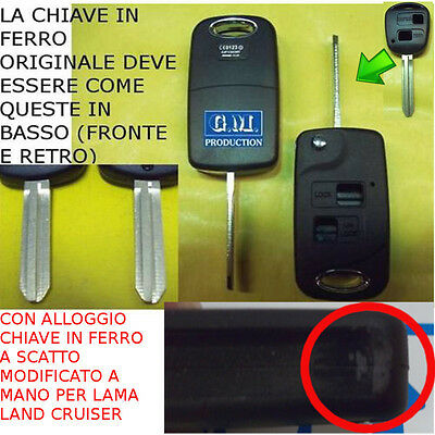 Case Key Snap For Remote Control Only Model Toyota Land Cruiser Light