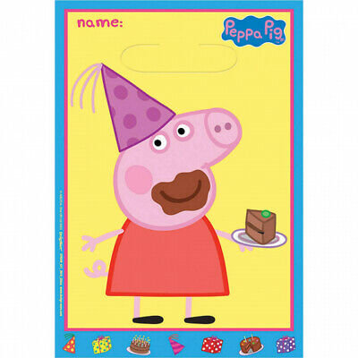 Peppa Pig Birthday Party Supplies Loot Lolly Treat Bags- Pack of 8