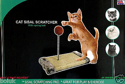 Cat Play Post Scratch Activity Pole Centre Climbing Sisal Scratcher Toy Ball