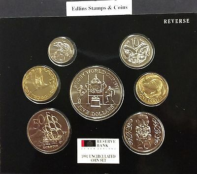 1991 new Zealand uncirculated coin set.