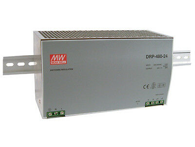 MEAN WELL DRP-480-24 AC/DC Power Supply Single-OUT 24V 20A 480W US  Authorised